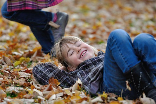 Children, Child, Girl, Laugh, Autumn