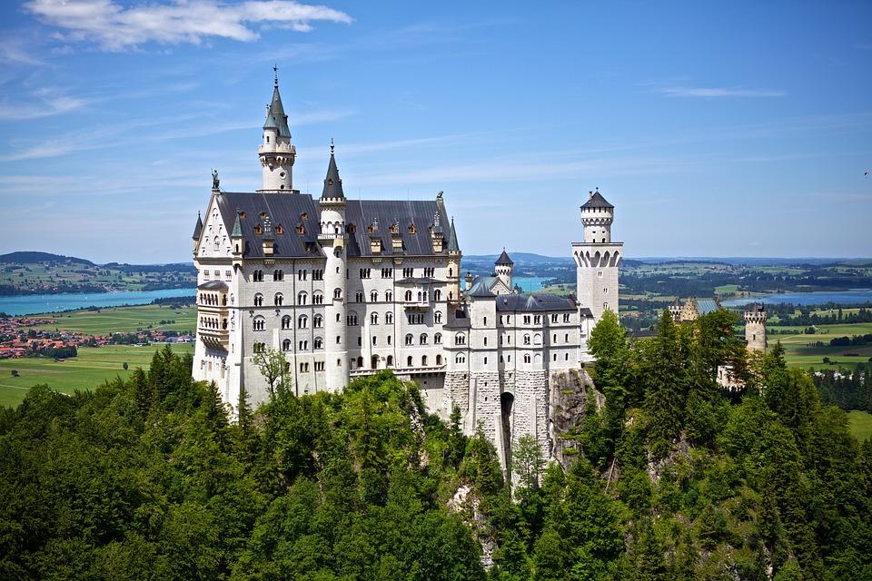 Neuschwanstein, Castillo, Alemania, Hito, Arquitectura