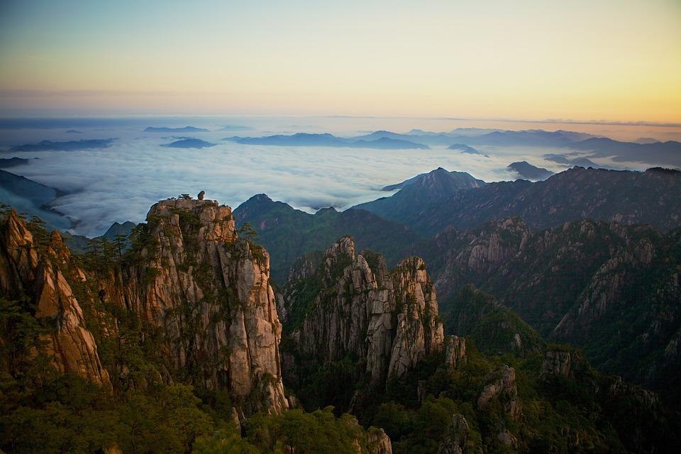 Montañas Amarillas, Montaña, Paisaje, Chino, De Viaje