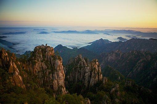 Montagnes Jaunes, La Chine, Jaune