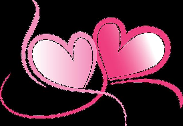 Love Frame Png Transparent Images 1293: Image Vectorielle Gratuite: Cœurs, Amour, Dessin, Mariage