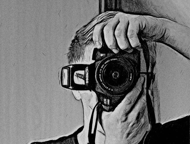Fotógrafo Dibujo Foto · Imagen Gratis En Pixabay