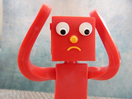 Upset, Sad, Confused, Figurine, Unhappy