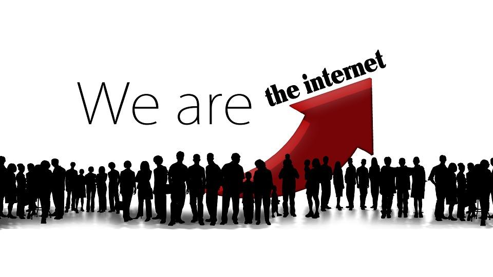 インターネット, ソーシャル ネットワーク, 社会的なメディア, 人間, シルエット, フォア グラウンド