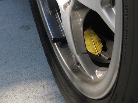 タイヤ, 自動車, 葉, 秋, メンテナンス, 自動, ホイール, 縁, 修理