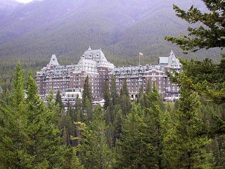 Hotel, Alberta, Banff, Canada, Travel