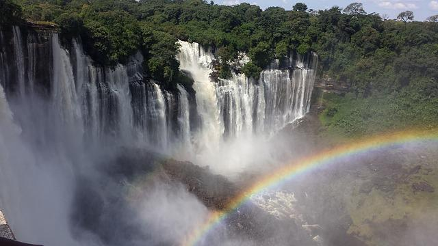 Free Photo: Cataracts, Angola, Rainbow, Nature