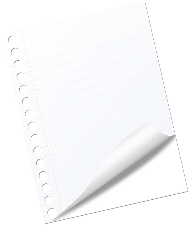 Note Page Blank White Business Notebook Office