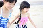 child, beach