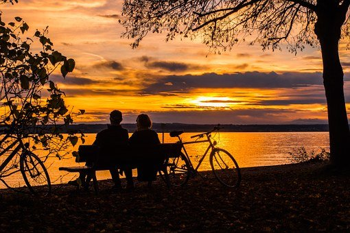 Sunset, Couple, Lake Constance