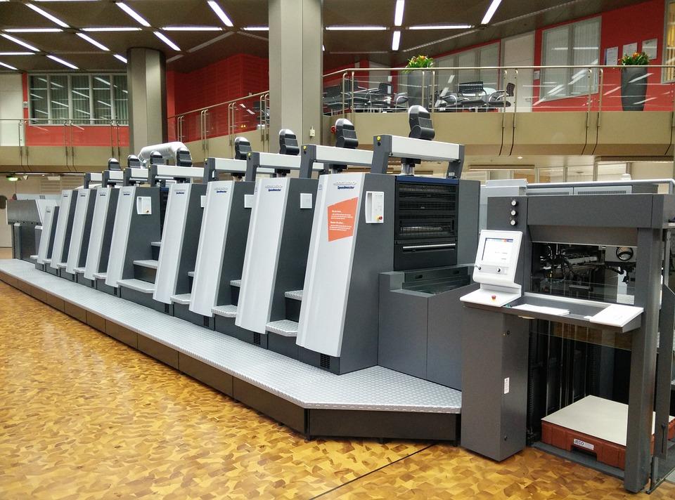 press a print machine