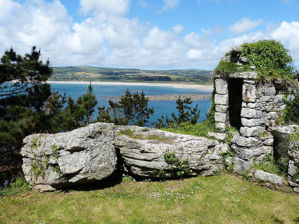 Cornwall, Anglicko, Pobrežie, Veľká Británia, Zámok