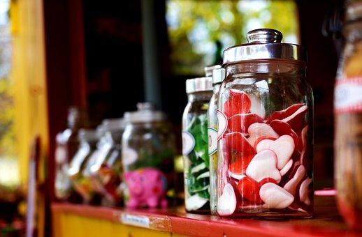 Candies, Jars, Candy Jars