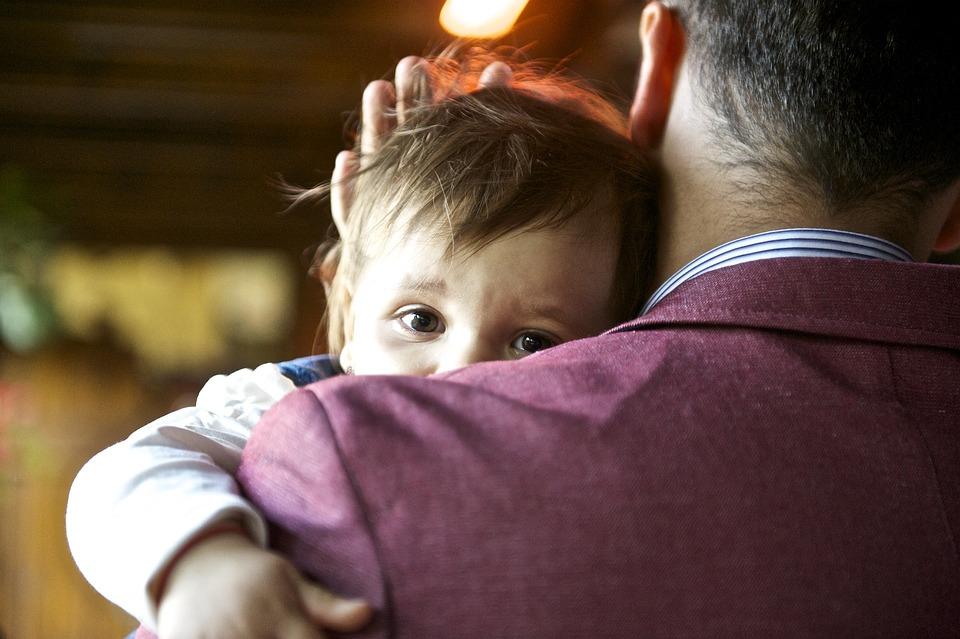 赤ちゃん, 子, 父, 愛