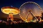 fair, fairground, ferris wheel