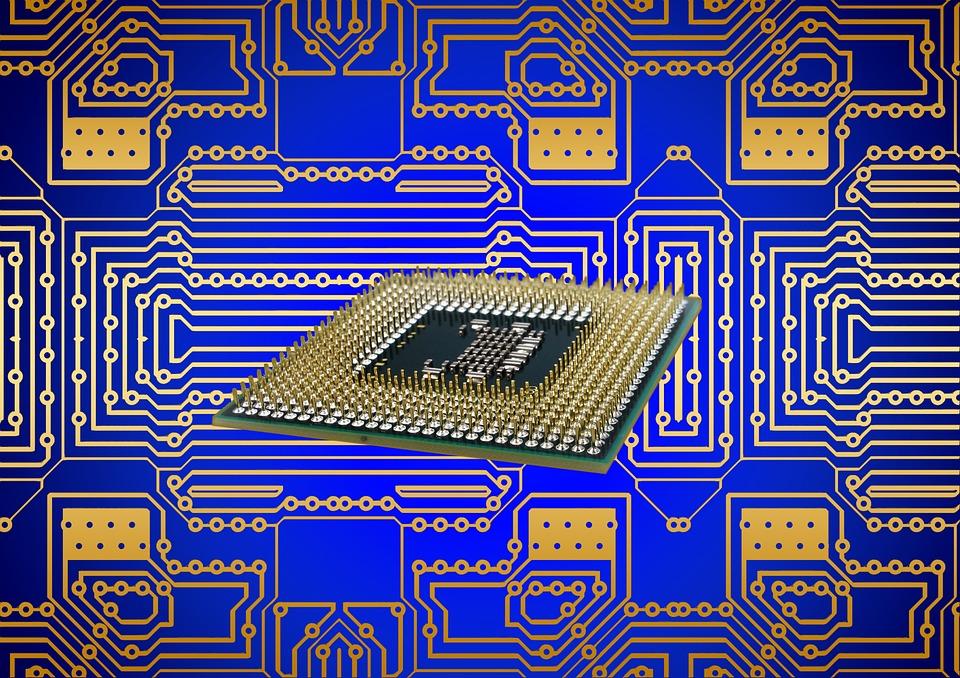 Motherboard Circuit Illustration: Free Illustration: Processor, Cpu, Board, Circuits