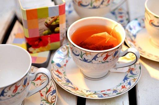 Tee, Teacup, Service, Tea Bags, Teatime