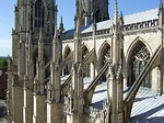 cathedral, buttresses