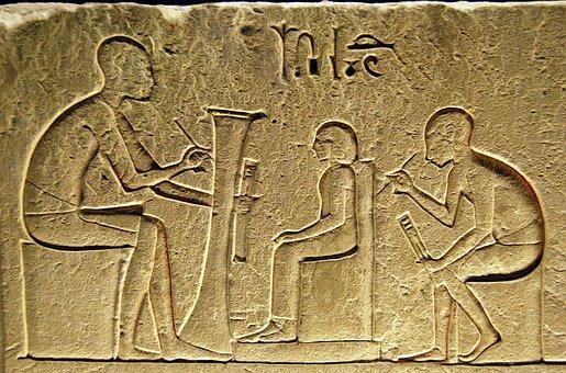 Hieroglyphs, Writing, Egyptian, Scribe