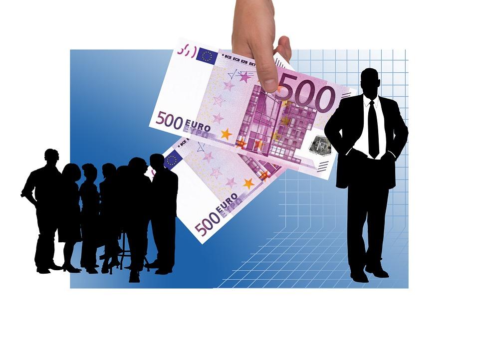 ビジネスの世界, 手, 金融, 報酬, 計画, 補償, 償還, 費用の払い戻し, 賃金, 委員会, 収入