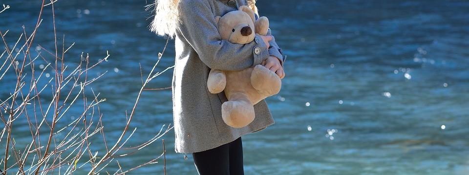 Girl, Child, Bear, Teddy Bear, Cute, Water