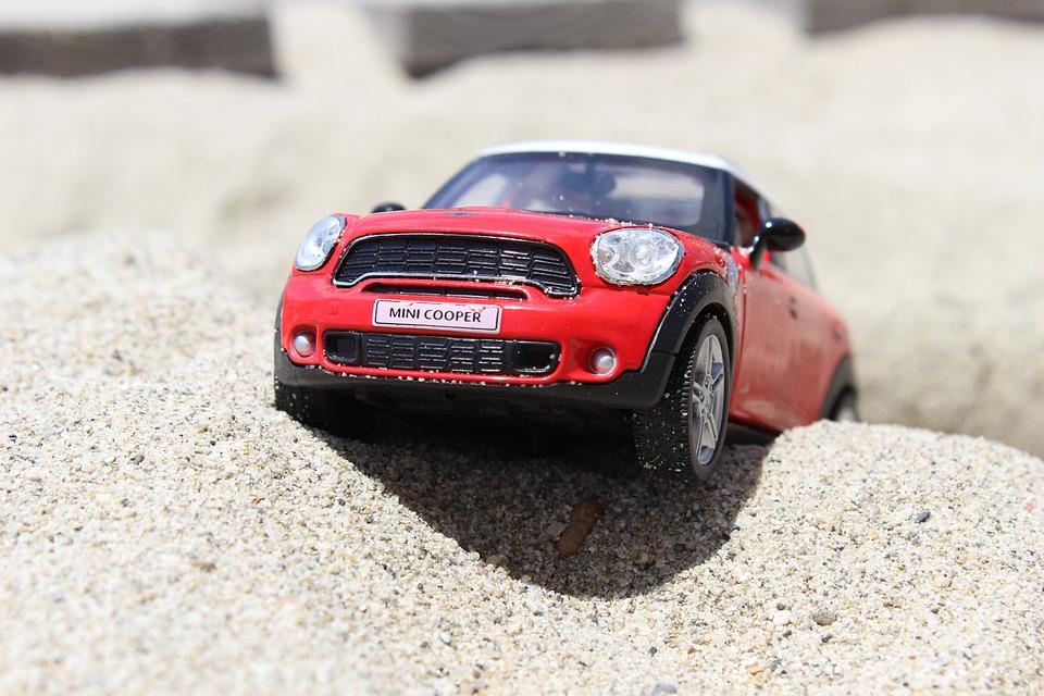 Zabawka, Samochód, Mini Cooper, Beach, Mini