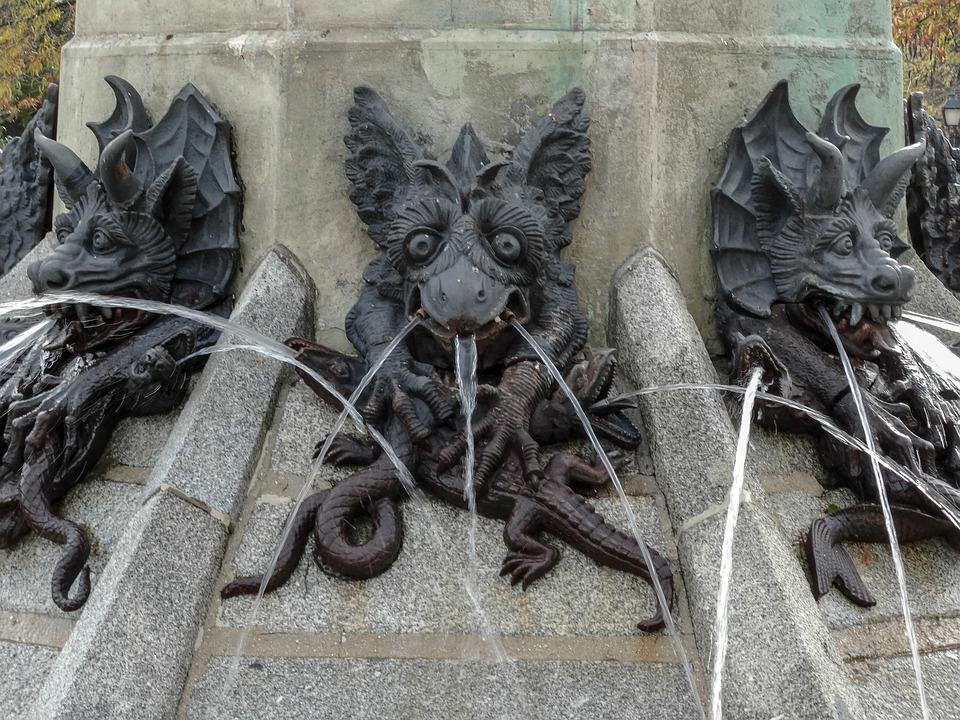 Statue, Teufel, Dämon, Lucifer, Beelzebub, Entfernung