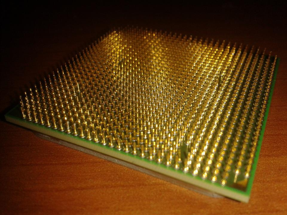 free photo pins cpu processor gold free image on