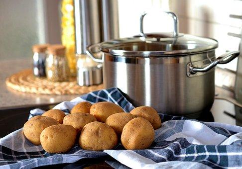 Potatoes, Cook, Pot, Eat, Food