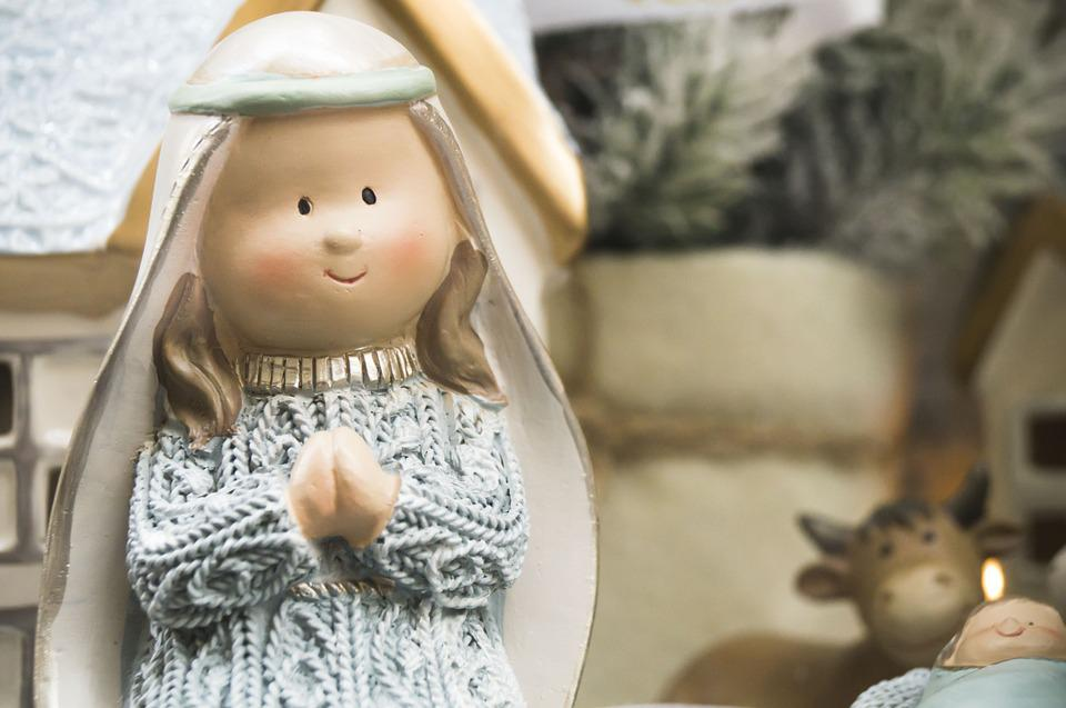 Maria, Madonna, Weihnachten, Schaufenster, Spielzeug