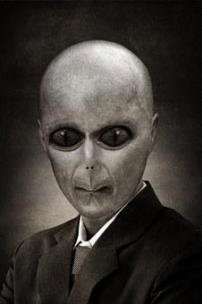 Alien, Reptilien, Portrait, Politicien