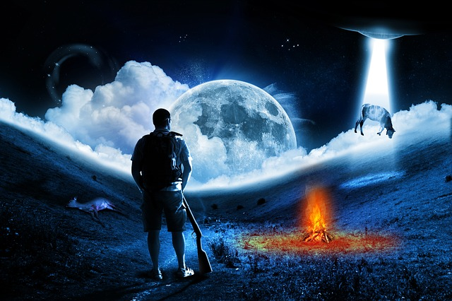free illustration  ufo  alien  alie  abduction  moon - free image on pixabay