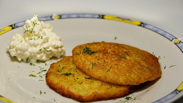 Potato Pancakes, Latkes, Fried, Meal