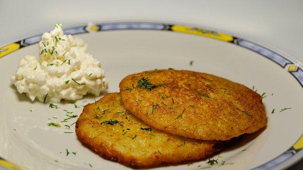 Potato Pancakes, Latkes, Fried, Meal