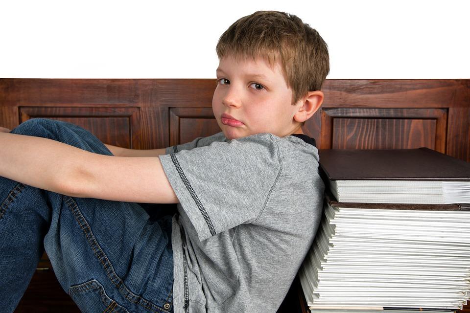 Triste, Aprendizaje, Escuela, Lectura, Desafiante