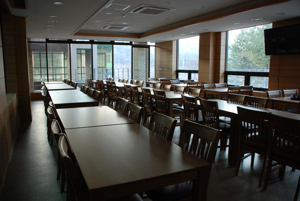 食堂、食堂、食堂、テーブル、ダイニングテーブル