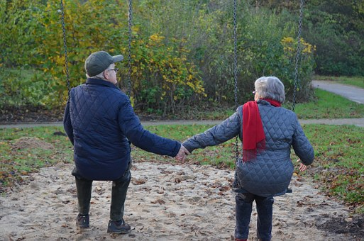 Ancianos Amantes Hombre Mujer Amor Edad Ar