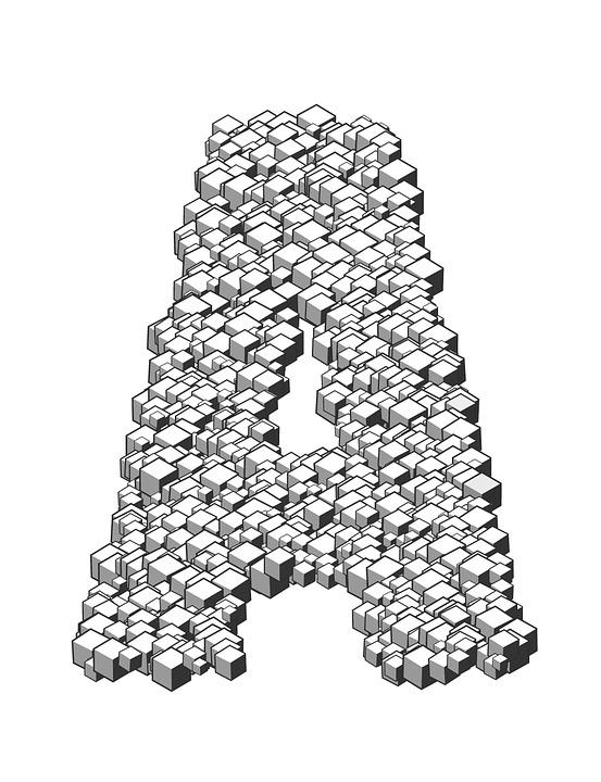 letter box 3d cubes stack heap letterpress