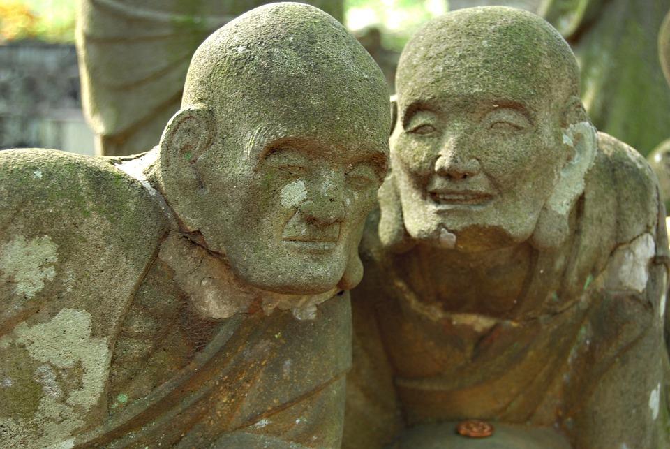 Statue De Bouddha, Statues De Pierre, Parler, Écouter
