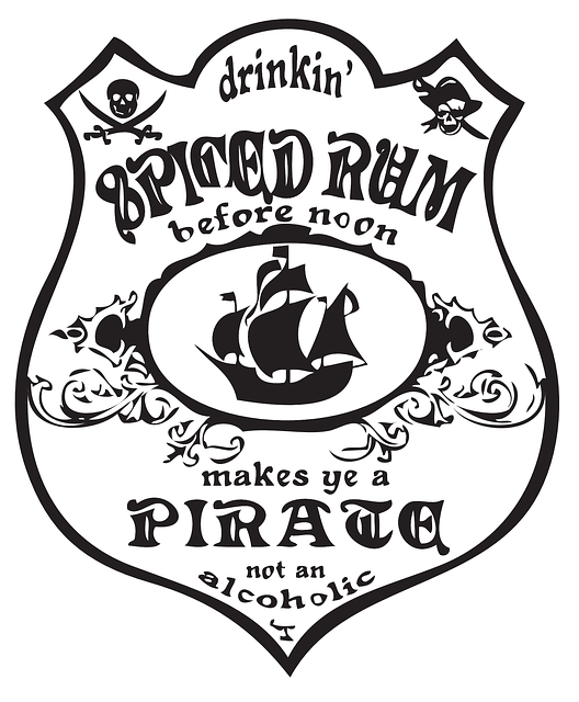 Free Vector Graphic Bottle Label Rum Pirate Ship