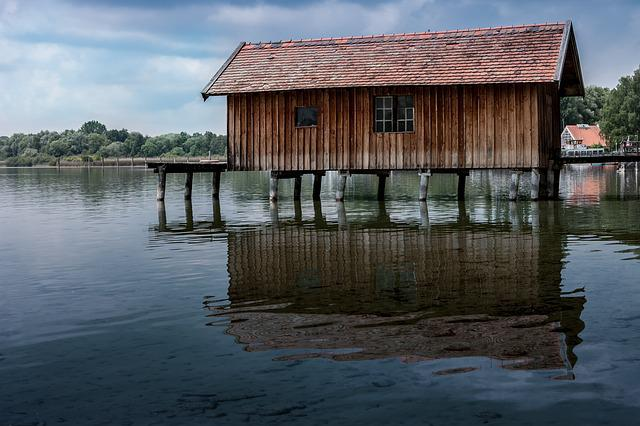 Free photo: Boat House, Web, Lake, Bavaria - Free Image on Pixabay - 547098