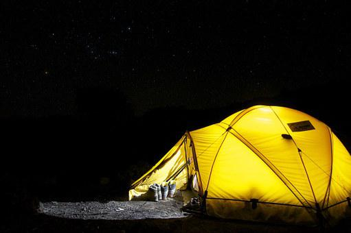 Tent, Camp, Night, Star, Camping