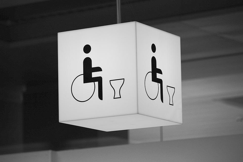 무료 사진: 화장실, 휠체어 사용자가, 사용 안 함, 공중 화장실 ...