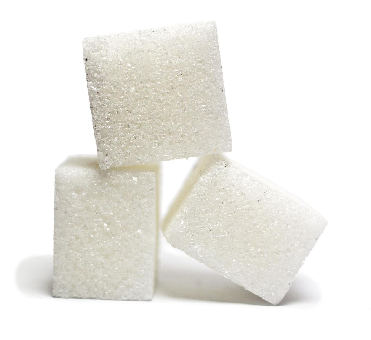 Bitsocker, Socker, Kuber, White, Söt, Candy