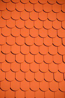 Roofing Tile Red Wall Brick Wall Wind