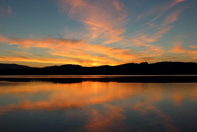 Free Photo: Dusk, Sunset, Landscape, Summer