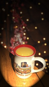 Eggnog, Christmas Market, Hot Drink