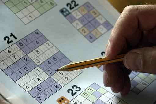 Sudoku, Puzzles, Mysterious Folder, Hand