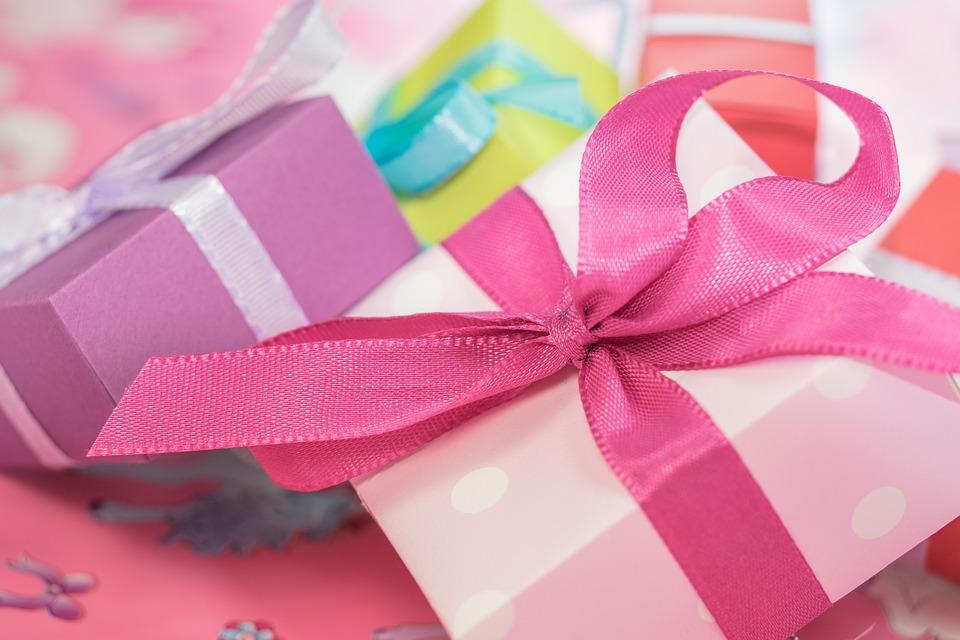 ピンク, ギフト, ボックス, プレゼント, ギフトボックス, リボン, 包装, 包装紙