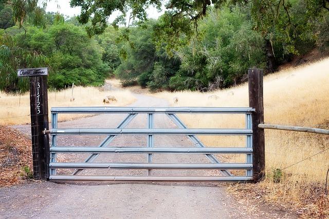 Fence Gate Rural Iron 183 Free Photo On Pixabay